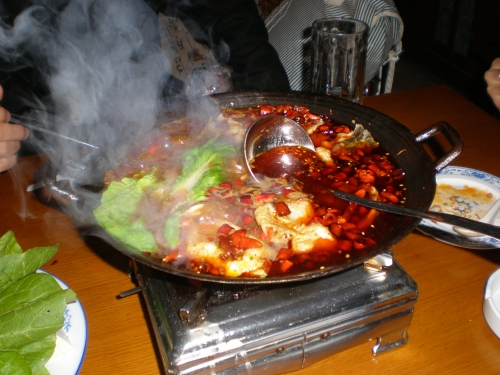 Hotpot with friends in China