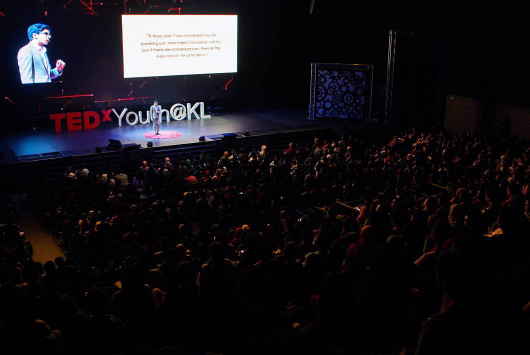 Syed during TEDxYouthKL