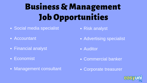 Business and management - job opportunities