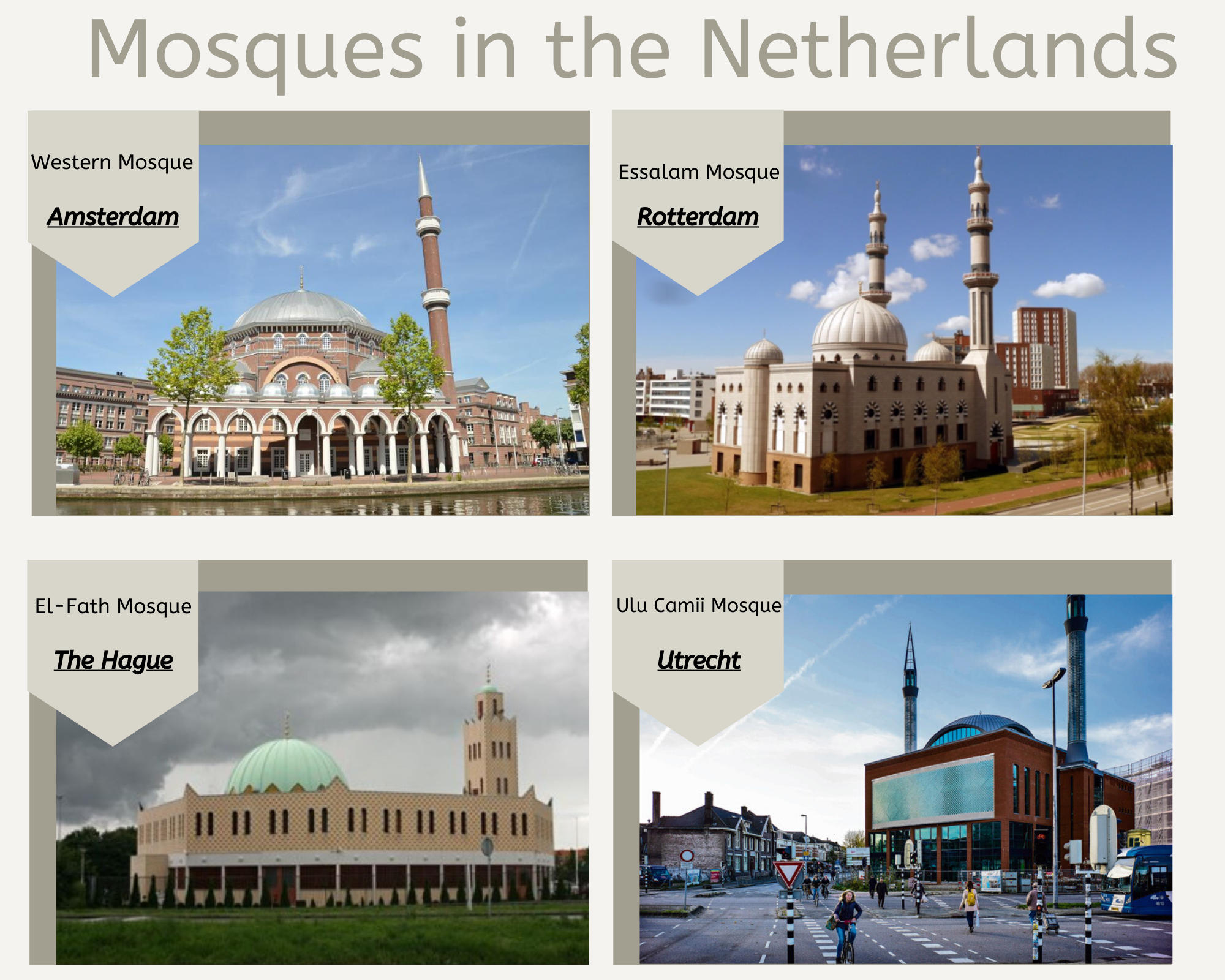 Mosques in The Netherlands